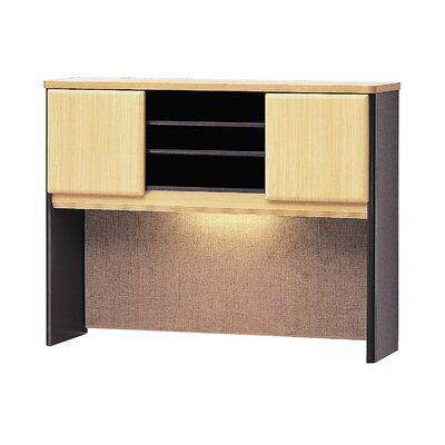 Series A 36.5 H x 47.52 W Desk Hutch Finish: Euro Beech/Slate Gray