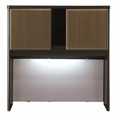 Series A 36.5 H x 35.5 W Desk Hutch Finish: Cappucino Cherry/Hazelnut Brown