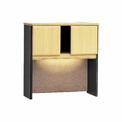 Series A 36.5 H x 35.5 W Desk Hutch Finish: Euro Beech/Slate Gray
