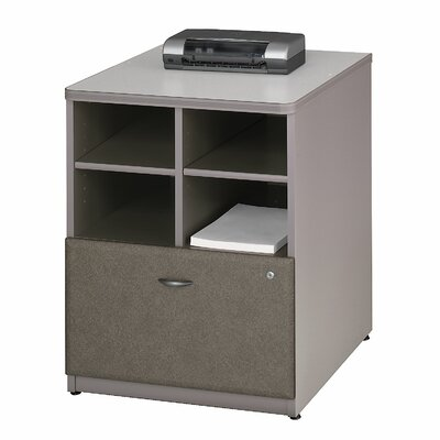 Series A 29.803 x 23.54 W Desk File Pedestal Finish: Pewter