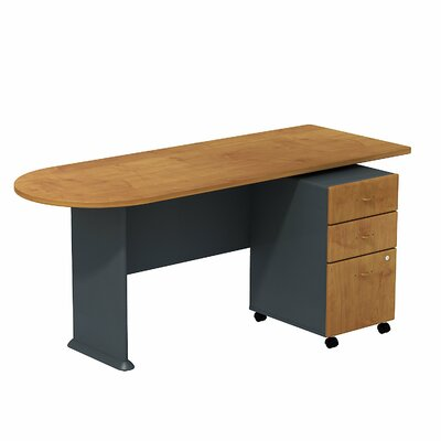 Series A 29.78 H x 71.18 W Desk Peninsula Finish: Cherry/Slate