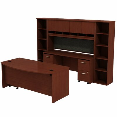 Series C Bow Front Desk Office Suite Finish: Mahogany/Mahogany Product Picture 2547