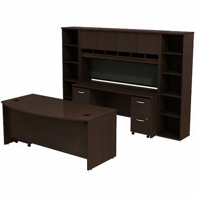 Series C Bow Front Desk Office Suite Finish: Mocha Cherry/Mocha Cherry Product Picture 6883