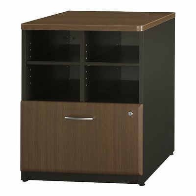Series A 29.803 x 23.54 W Desk File Pedestal Finish: Cappucino Cherry / Hazelnut Brown