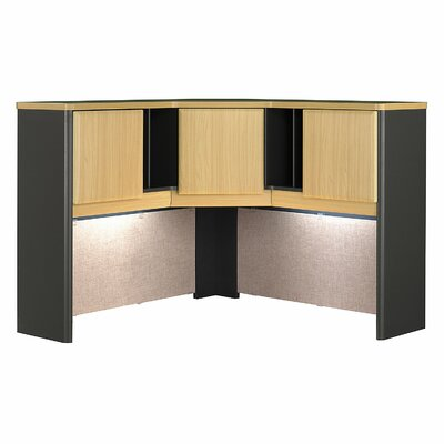 Series A 36.5 H x 47.17 W Desk Hutch Finish: Euro Beech/Slate Gray