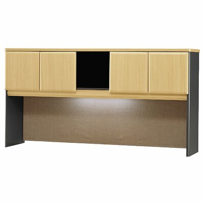 Series A 36.5 H x 71.54 W Desk Hutch Finish: Euro Beech/Slate Gray