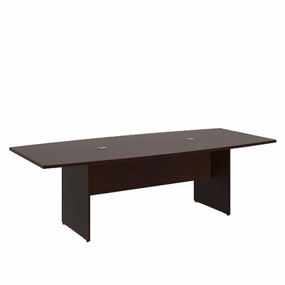 Boat shaped 30H x 42W x 95L Conference Table Finish: Harvest Cherry