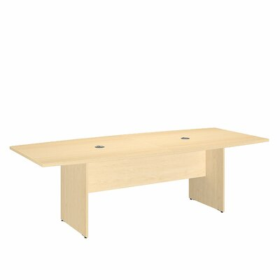Boat shaped 30H x 42W x 95L Conference Table Finish: Natural Maple