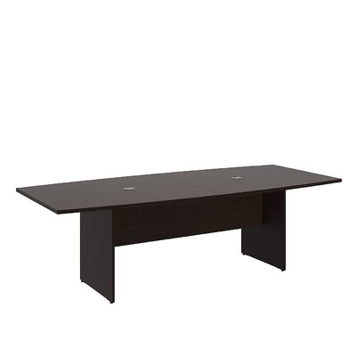 Boat shaped 29.78H x 42.01W x 95.2L Conference Table Finish: Mocha Cherry