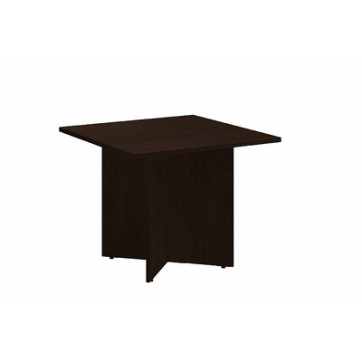 Square 29.66H x 35.79W x 35.79L Conference Table Finish: Mocha Cherry