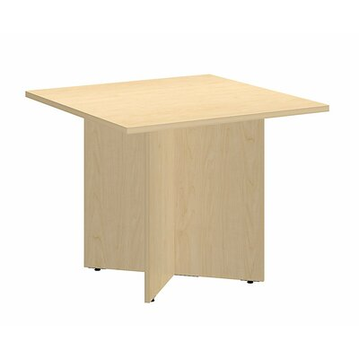 Square 29.66H x 35.79W x 35.79L Conference Table Finish: Natural Maple