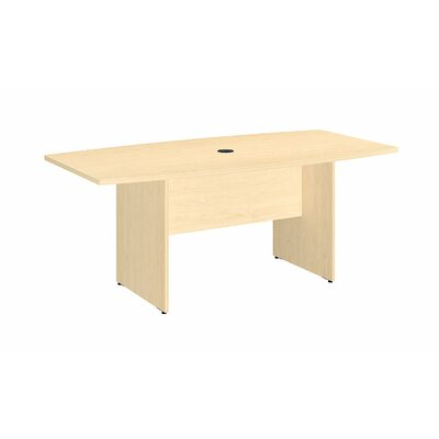 Boat shaped 28.65H x 35.98W x 71.54L Conference Table Finish: Natural Maple