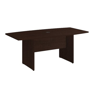 Boat shaped 28.65H x 35.98W x 71.54L Conference Table Finish: Mocha Cherry