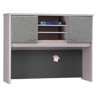 Series A 36.5 H x 47.5 W Desk Hutch Finish: Pewter Product Photo 884
