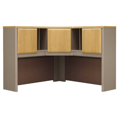 Series A 36.5 H x 47.17 W Desk Hutch Color: Danish Oak/Sage