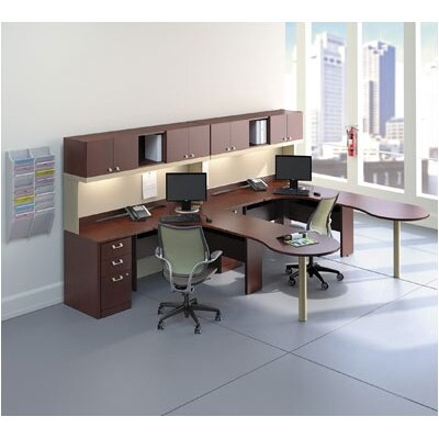 Quantum 30 H x 47.625 W Desk Peninsula Finish: Harvest Cherry