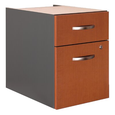 Series C 20 H x 15.625 W Desk File Pedestal Finish: Autumn Cherry