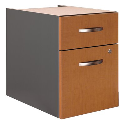 Series C 20 H x 15.625 W Desk File Pedestal Finish: Natural Cherry (Assembled)