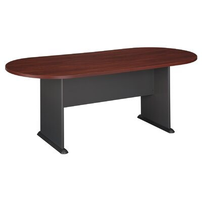 Racetrack Oval 29.875H x 34.5W x 81.5L Conference Table Finish: Hansen Cherry with Galaxy Base