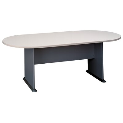 Racetrack Oval 29.875H x 34.5W x 81.5L Conference Table Finish: Pewter