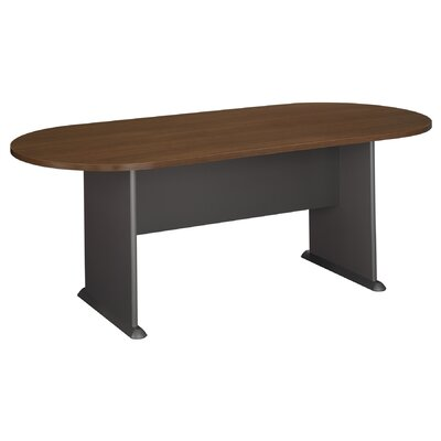 Racetrack Oval 29.875H x 34.5W x 81.5L Conference Table Finish: Sienna Walnut
