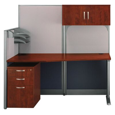 Office-in-an-Hour Straight Computer Workstation with Storage Product Image 91