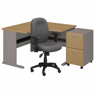 Series A Left Corner Desk Drawer File Chair picture