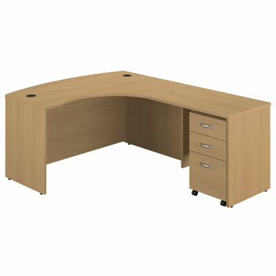 Series C Right Bow Front L-Shape Computer Desk Product Photo 105