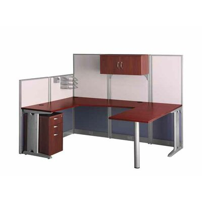 Office-in-an-Hour U-Shape Desk Office Suite with Metal Frame Product Image 91