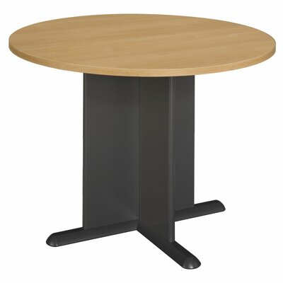 Fairplex Circular 29.88H x 41.5W x 41.5L Conference Table Finish: Light Oak