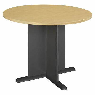 Fairplex 3.5' Circular Conference Table Finish: Euro Beech/Slate Gray Product Photo 7385