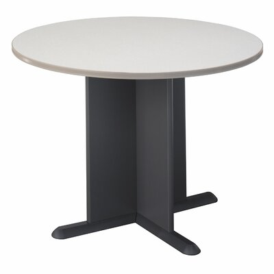 Fairplex Circular 29.88H x 41.5W x 41.5L Conference Table Finish: Pewter with Graphite Base