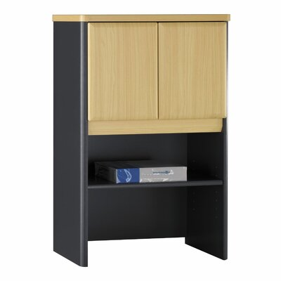 Series A 36.5 H x 24 W Desk Hutch Finish: Euro Beech/Slate Gray