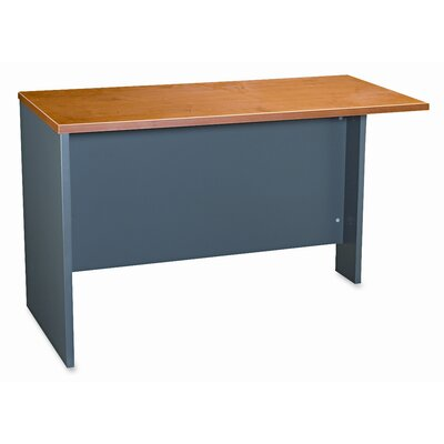 Series C 29.8 H x 47.7 W Left Desk Return Finish: Natural Cherry / Graphite Gray