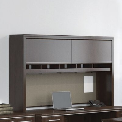 Enterprise 41.71 H x 70.12 W Desk Hutch Finish: Mocha Cherry
