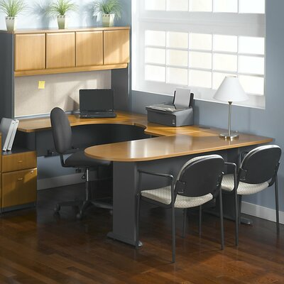 Series A 29.8 H x 29.45 W Desk Peninsula Finish: Natural Cherry