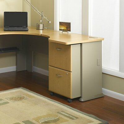 Series A 29.8 H x 29.45 W Desk Peninsula Finish: Light Oak