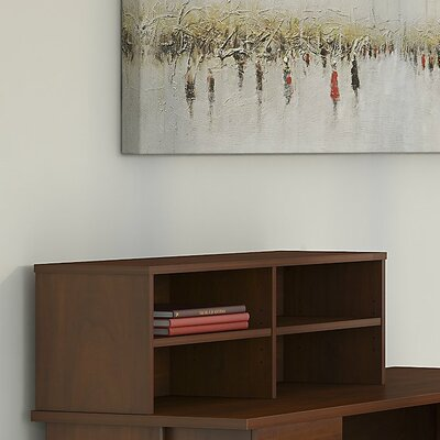Series C Elite 13.82 H x 45.39 W Desk Hutch Finish: Hansen Cherry