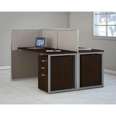 Easy 4 Piece Standard Desk Office Suite
