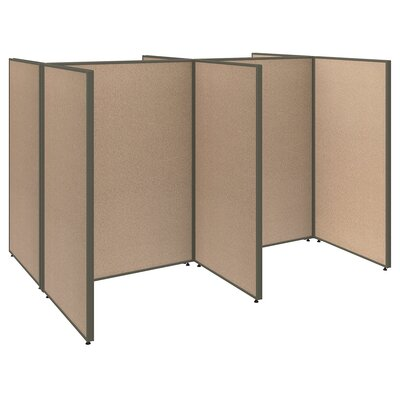 ProPanel 4 Person Open Cubicle Configuration Finish: Light Gray
