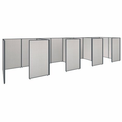 ProPanel 4 Person Closed Cubicle Configuration Finish: Light Gray