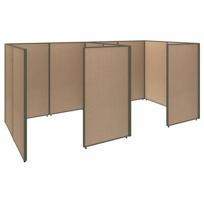 ProPanel 2 Person Closed Cubicle Configuration Finish: Harvest Tan