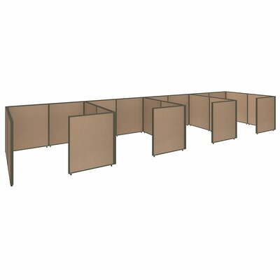 ProPanel 4 Person Closed Cubicle Configuration Finish: Harvest Tan