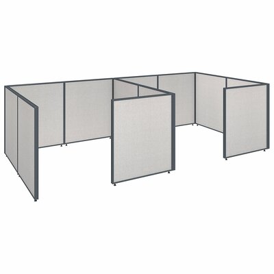 ProPanel 2 Person Closed Cubicle Configuration Finish: Light Gray