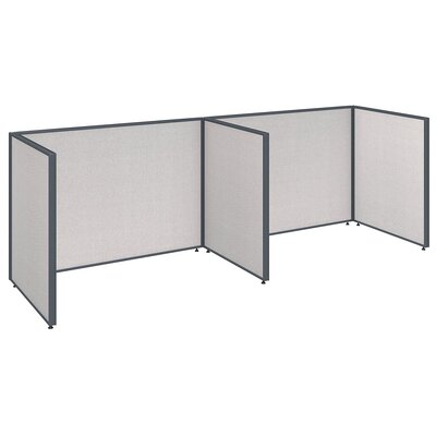 ProPanel 2 Person Open Cubicle Configuration Finish: Light Gray