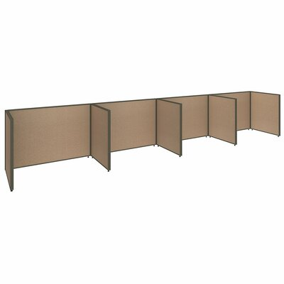 ProPanel 4 Person Open Cubicle Configuration Finish: Harvest Tan