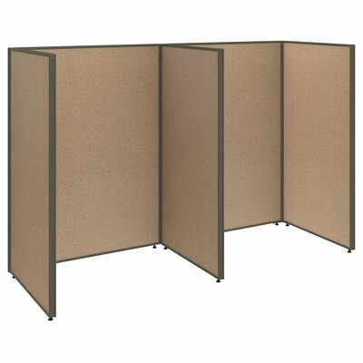 ProPanel 2 Person Open Cubicle Configuration Finish: Harvest Tan