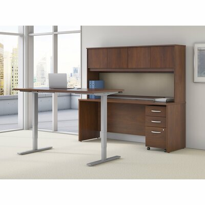 Series C Elite 36.02 H x 72 W Desk Hutch Finish: Hansen Cherry