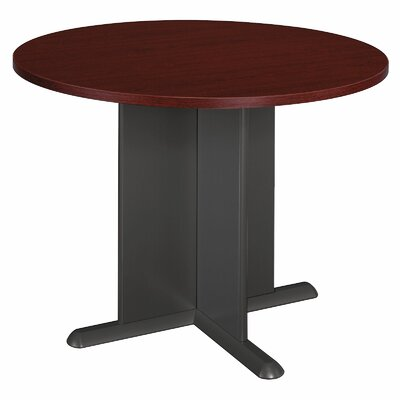 Fairplex Circular 29.88H x 41.5W x 41.5L Conference Table Finish: Mahogany