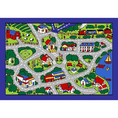 Street Map Area Rug